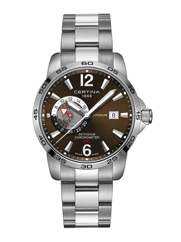 Certina DS Podium Titanium GMT COSC Chronometer C034.455.44.087.00
