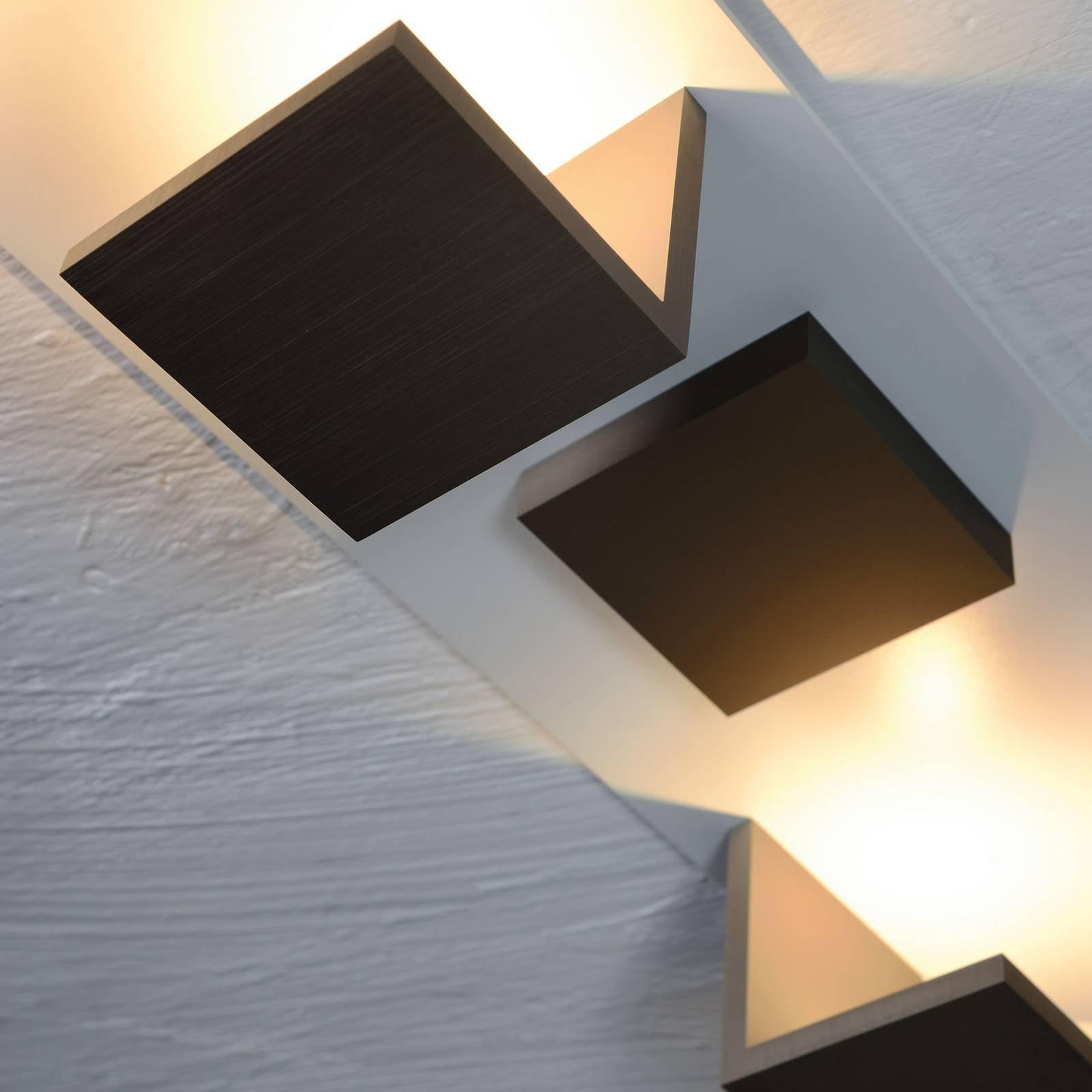 Bopp Reflections taklampe firkantet hvit/bronse