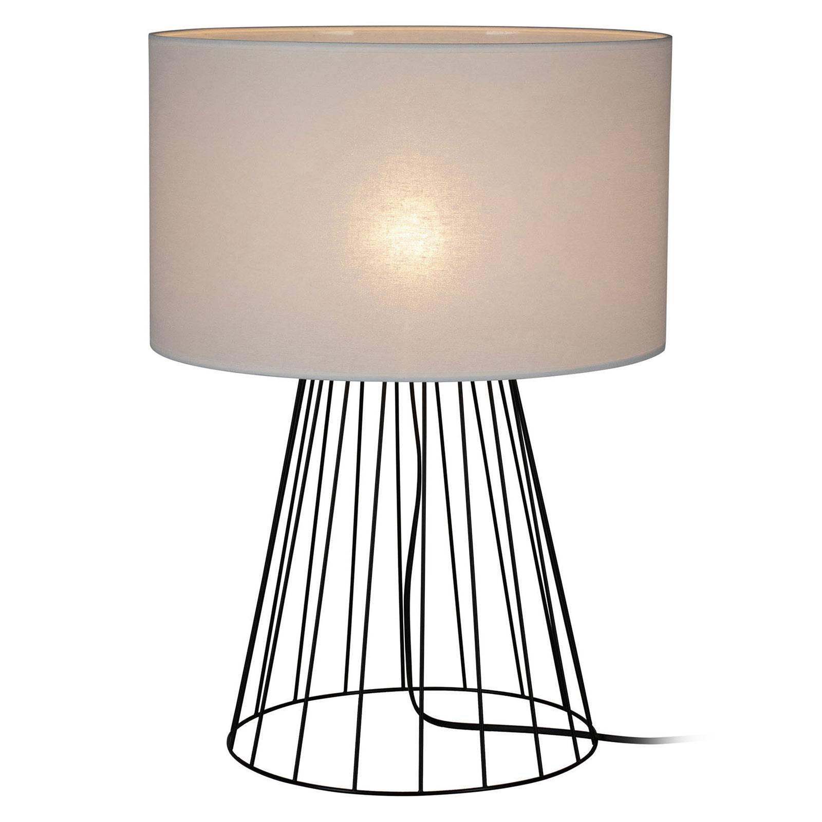 Bordlampe Valene med tekstilskjerm, høyde 69,5 cm