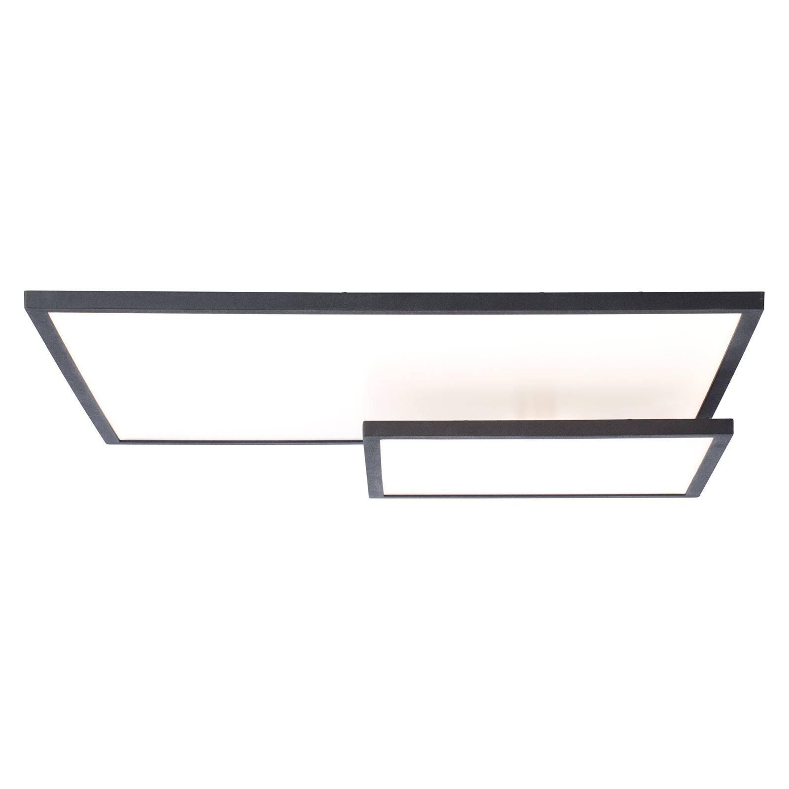 LED-taklampe Bility, 62 cm lang, svart ramme