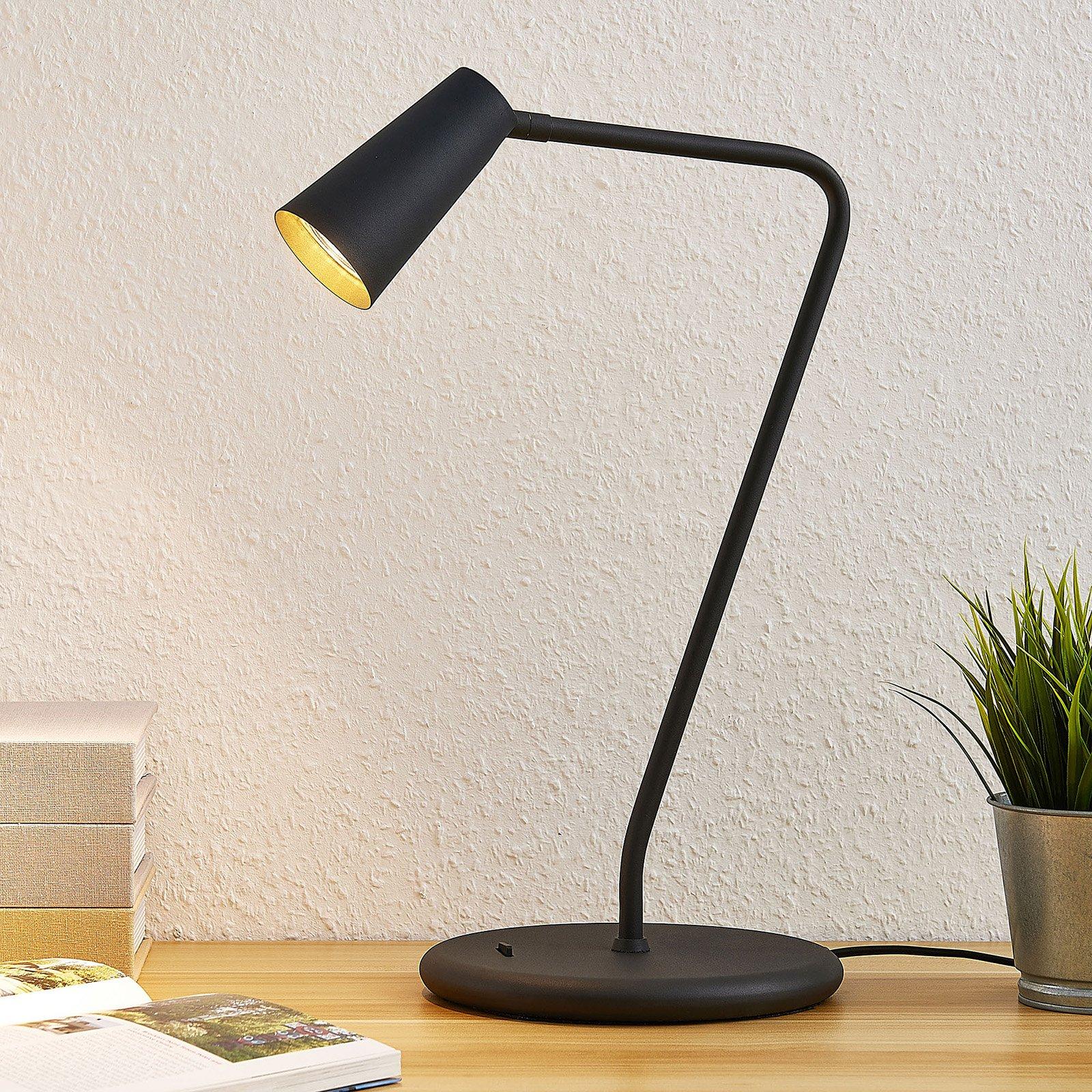 Lucande Angelina bordlampe, svart-gull
