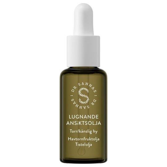 Dr Sannas Lugnande Ansiktsolja för torr/känslig hy, 30 ml