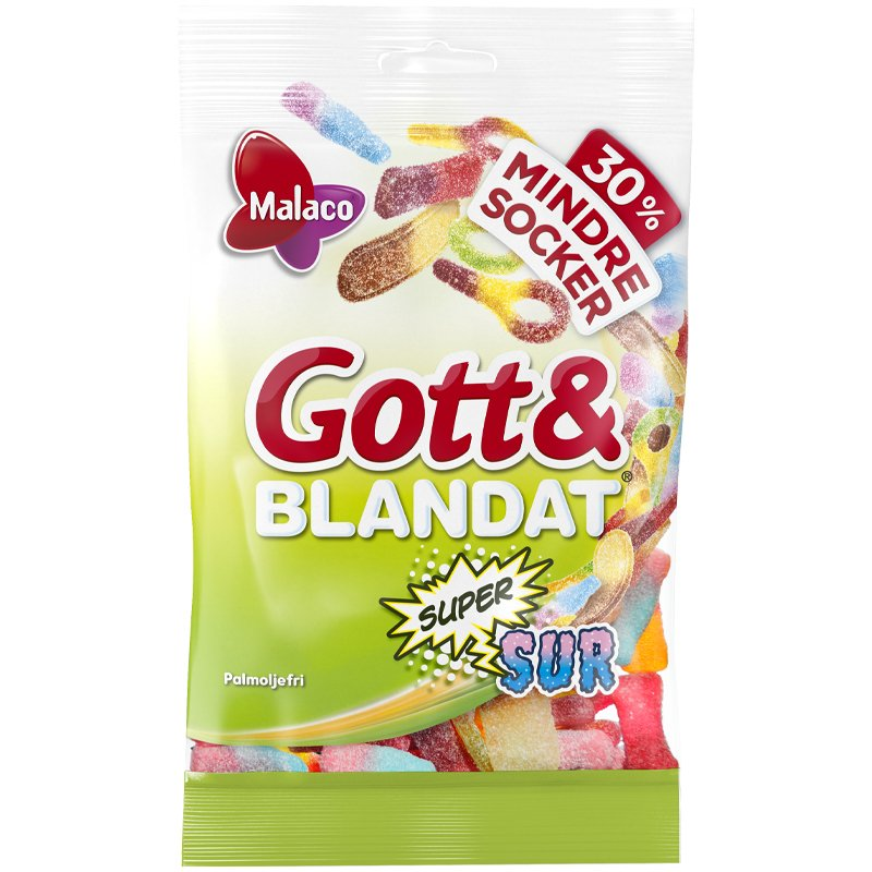 Gott & Blandat Supersur Mindre Socker - 29% rabatt