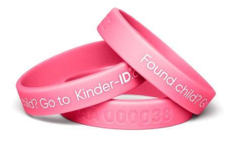 KinderID Säkerhetsarmband, Pink