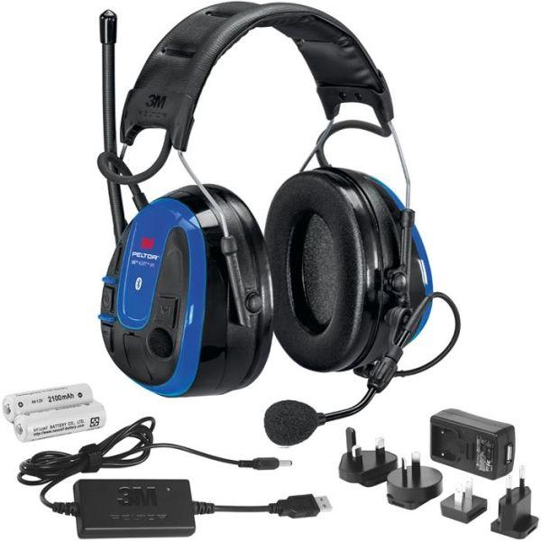 3M Peltor WS Alert XPI Kuulonsuojain Bluetooth, sovellus, pääpanta, laturi