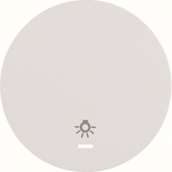 """Hager 16212079 Vipu malleihin R.1 ja R.3 Yksiosainen vipu, valkoinen, symboli """"valo"""""""