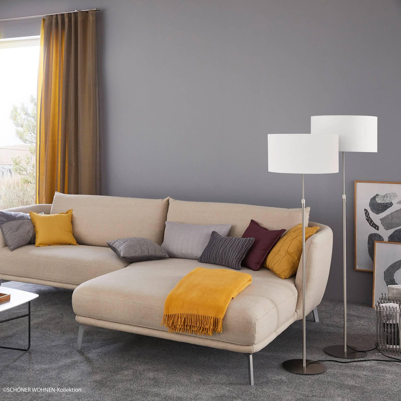 Schöner Wohnen Pina gulvlampe, hvit