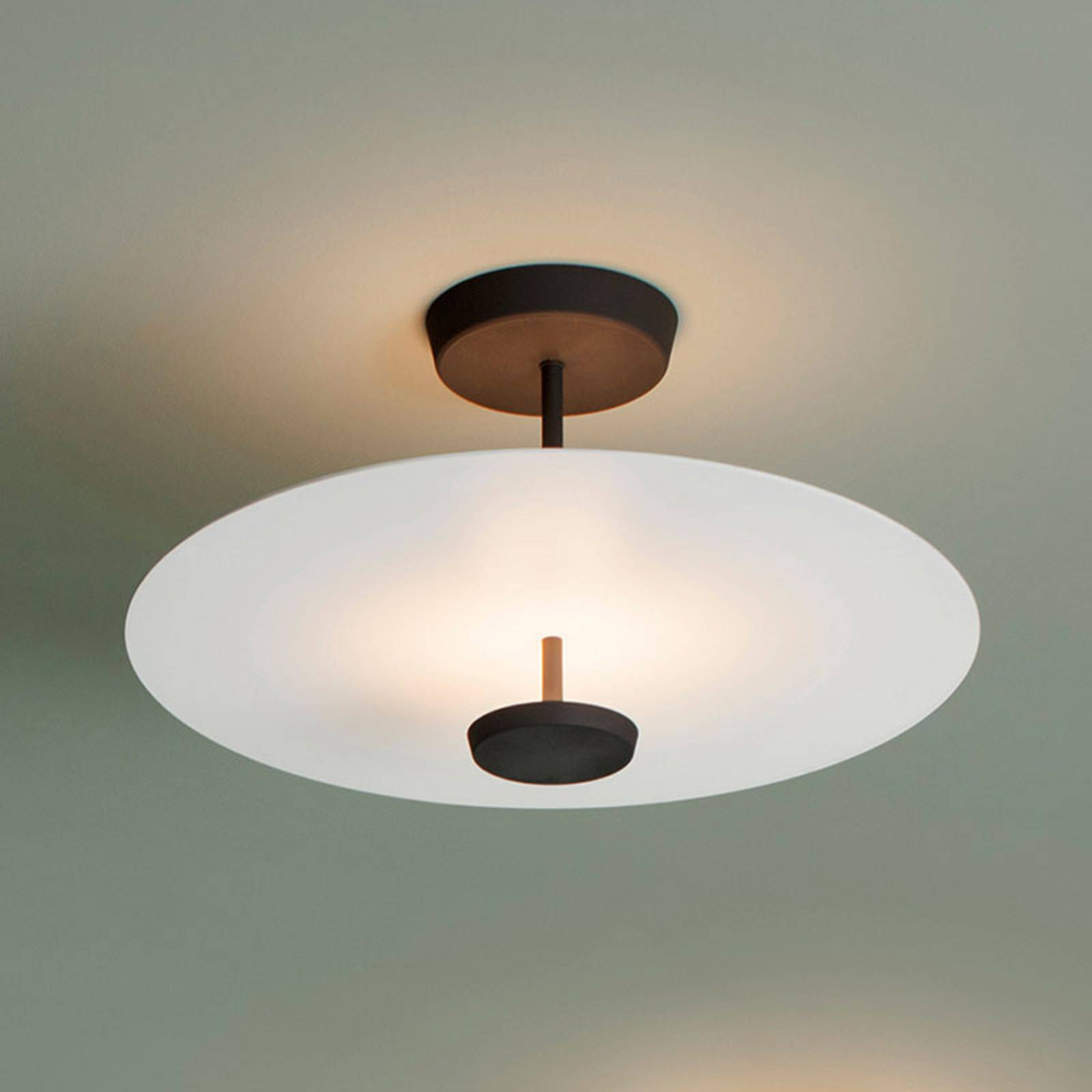 Vibia Flat LED-kattovalaisin 2-lamppuinen Ø 55 cm