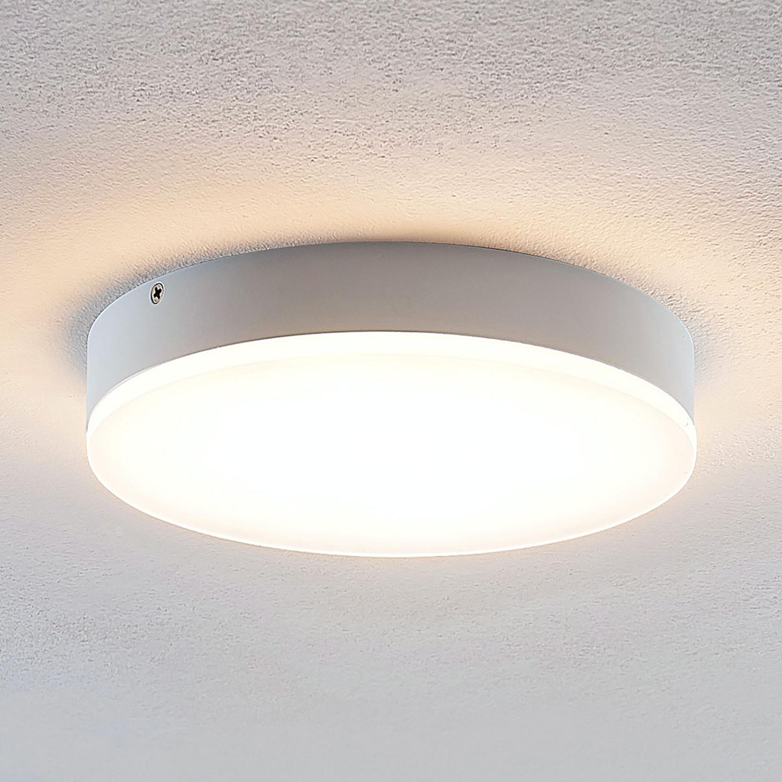 Lindby Leonta LED-kattovalaisin, valkoinen, 20 cm