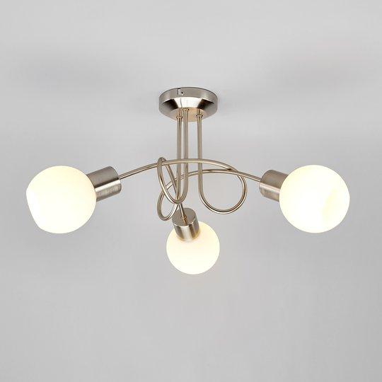 3-lampp. LED-kattovalaisin Elaina, matta nikkeli