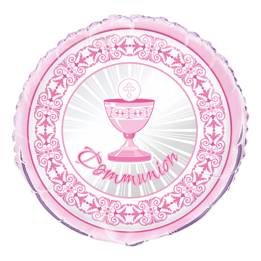Folieballong Communion Rosa
