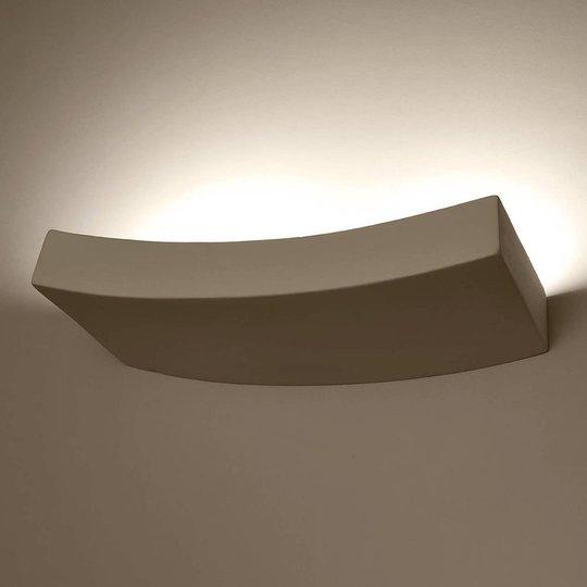 Lino vegglampe av keramikk, buet form