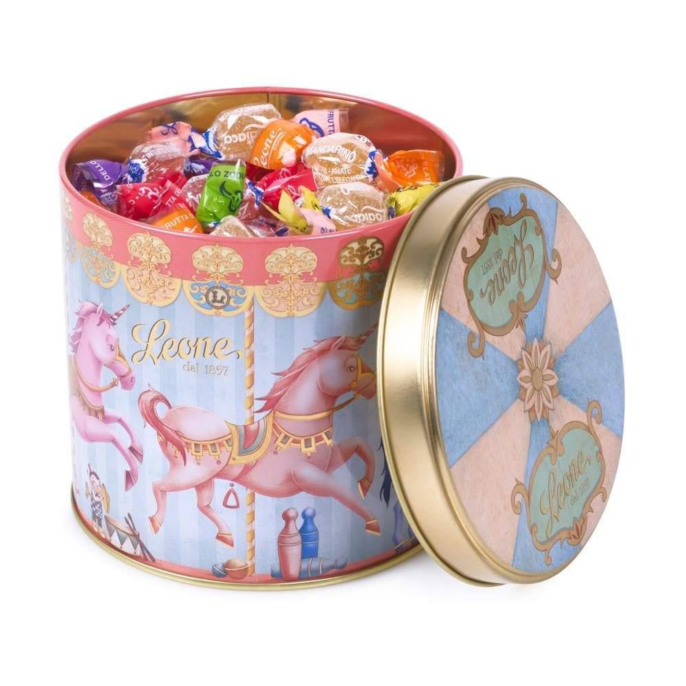 Jellies in Pastel Unicorn Carousel Tin 150g by Leone