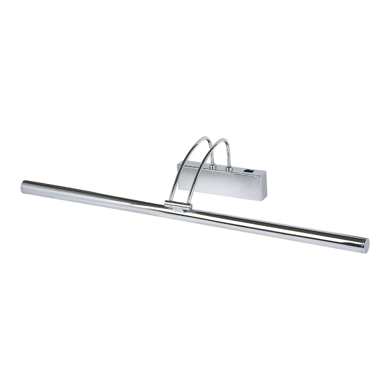 Piktura LED-bildelampe med bryter, krom