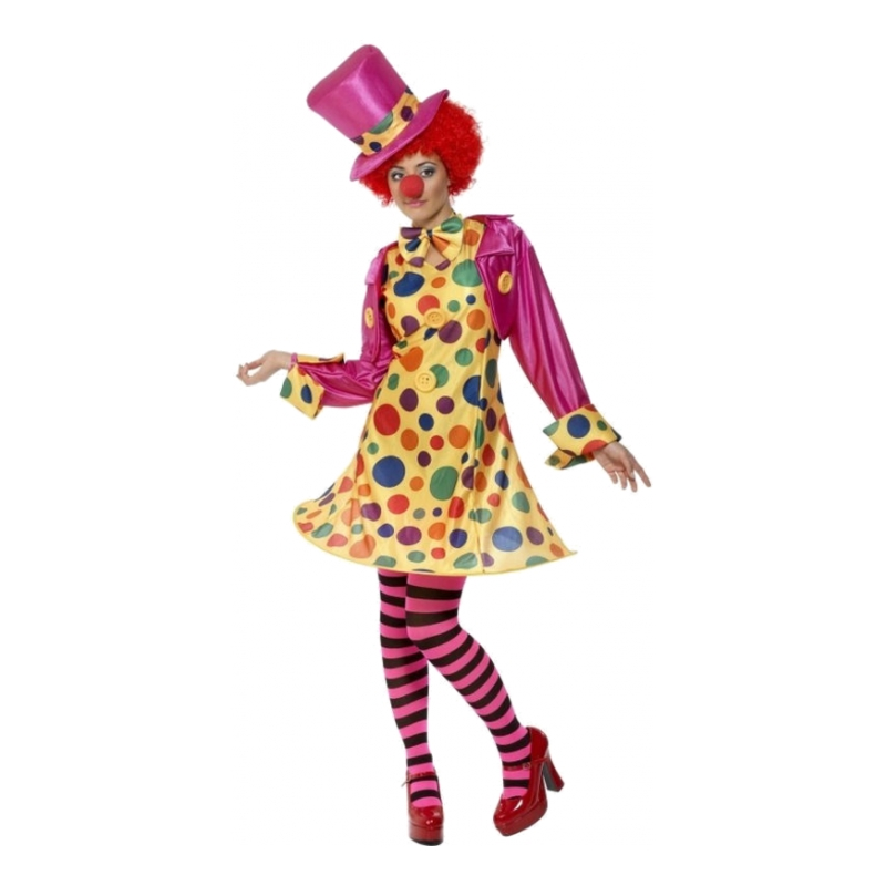 Clowntjej Maskeraddräkt - Small