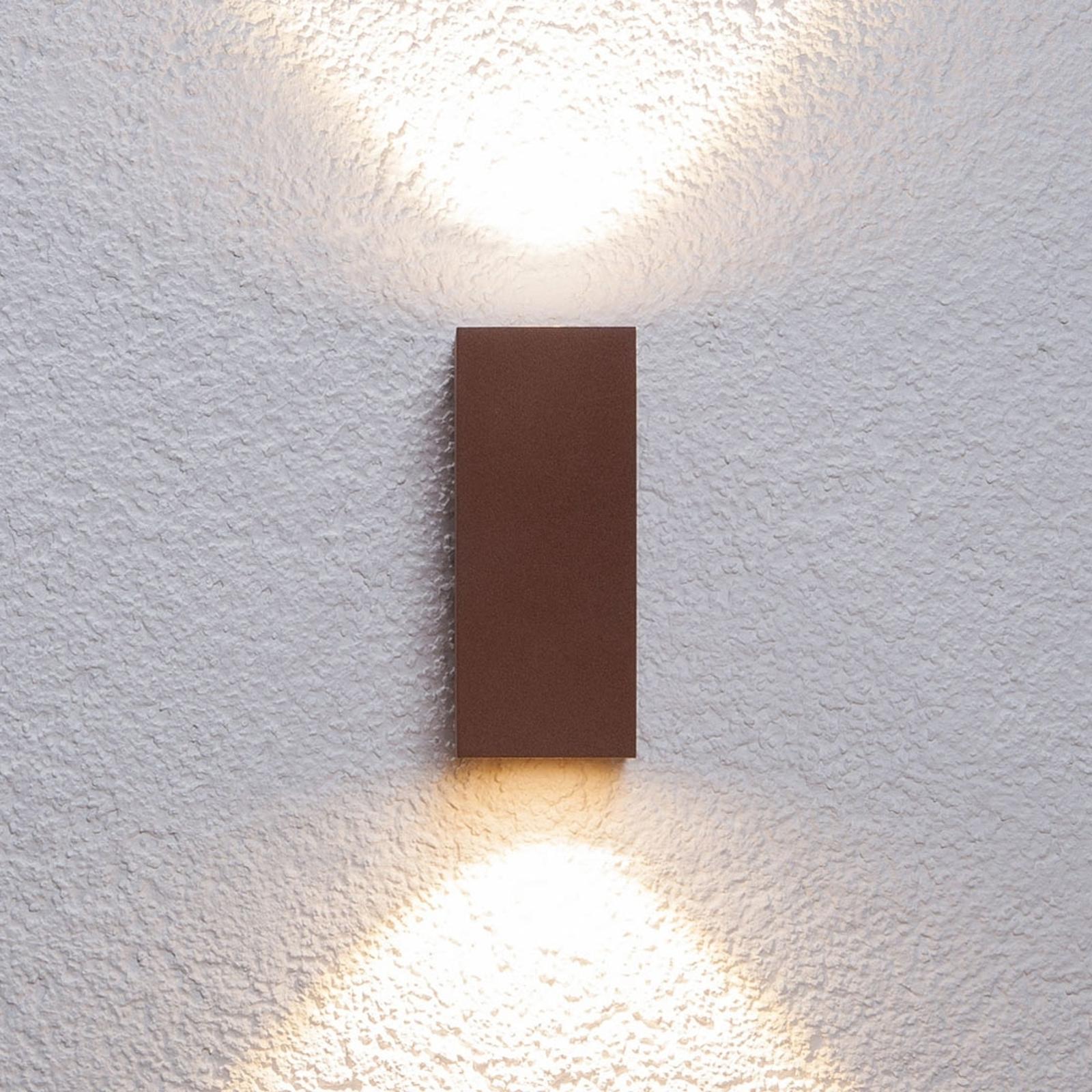 Valoisa Tavi-LED-ulkoseinävalaisin punaruskea