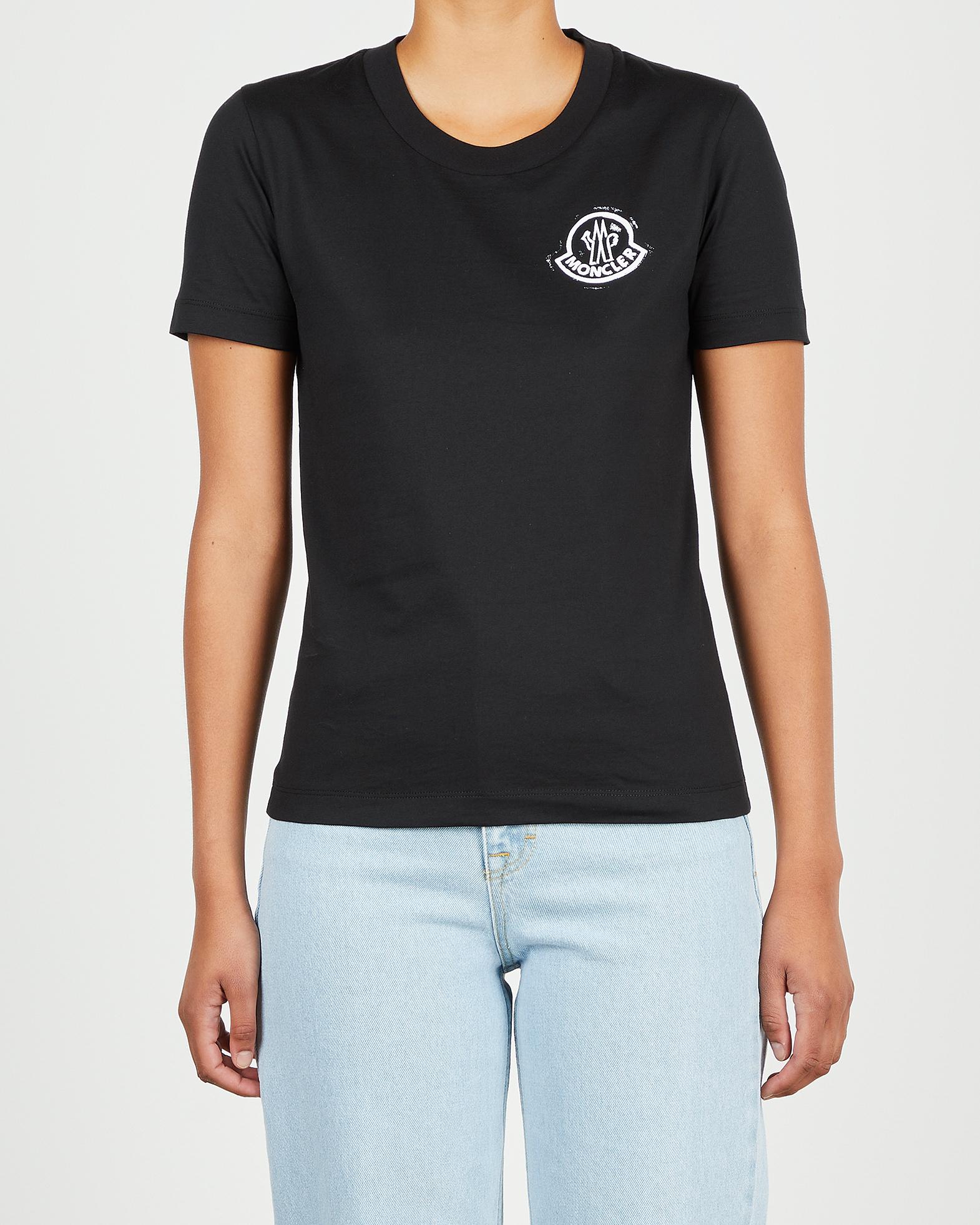 Moncler Topp SS T-Shirt svart XS