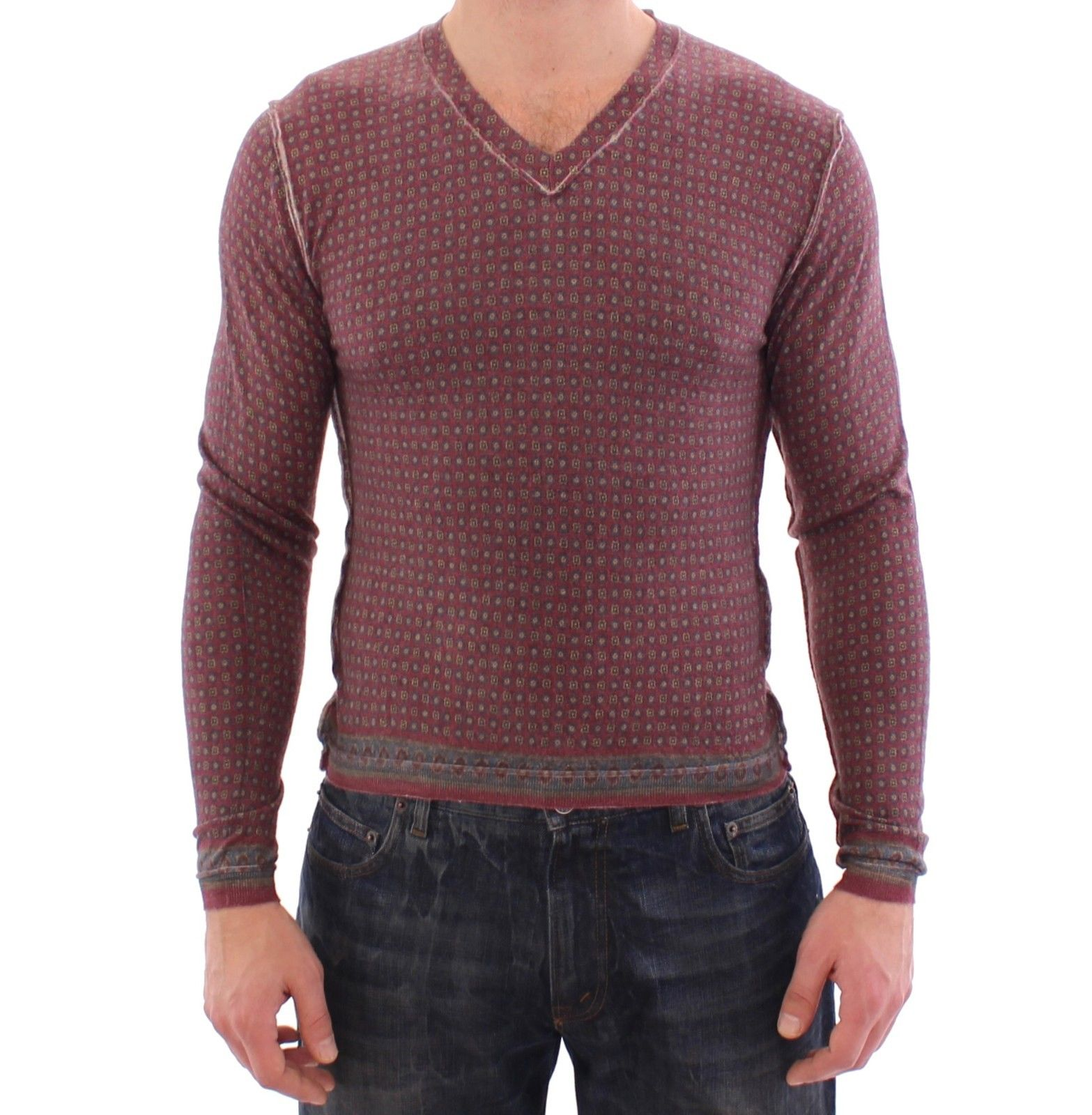 Dolce & Gabbana Men's Cashmere Sweater Pullover Multicolor GSS15153 - IT44 | XS