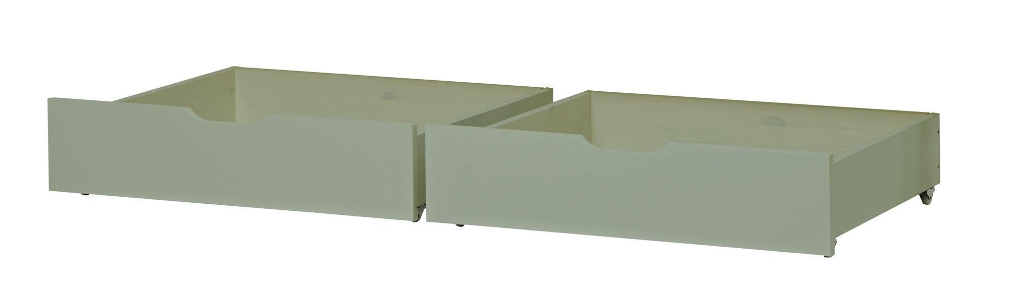 Hoppekids Sängynaluslaatikot IDA-MARIE 2-pack, Pale Green