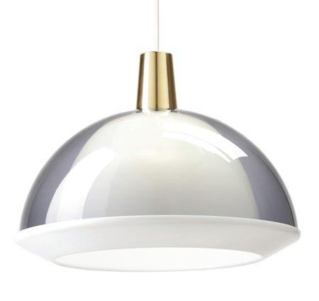 Pendellampe Kuppel Røykgrå 40 cm