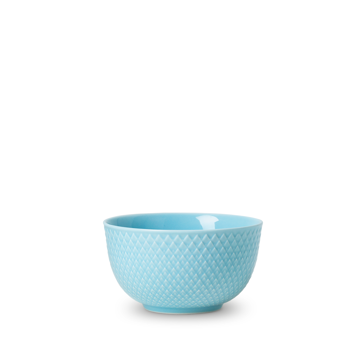 Lyngby Porcelæn - Rhombe Color Bowl Dia. 11cm - Turquoise (201900)