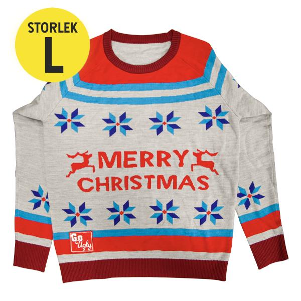 GoUgly Merry Christmas Sweatshirt L