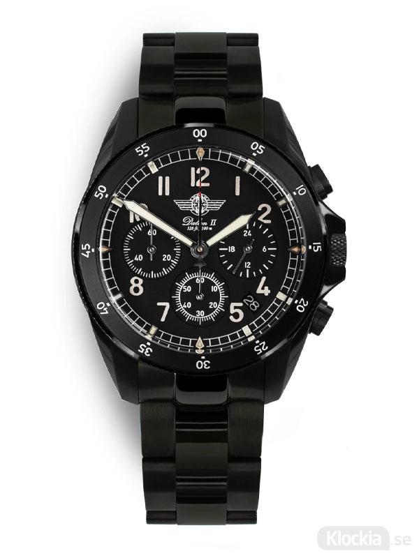 MALM Dalton 2 Black Chronograph 41 Bracelet MW-DAIIDLC39SWAF-LTD-B - Herrklocka