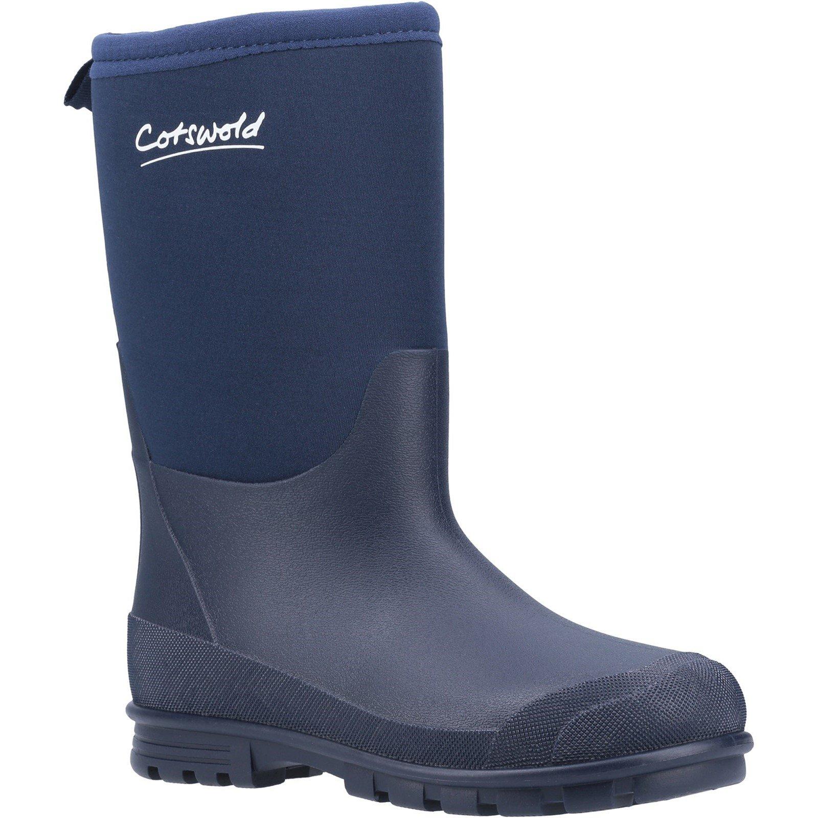 Cotswold Women's Hilly Neoprene Wellington Boot - Blue 8