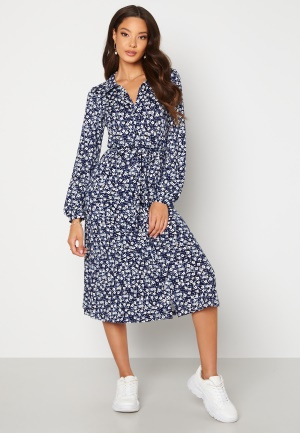 Happy Holly Linda dress Blue / Patterned 44/46