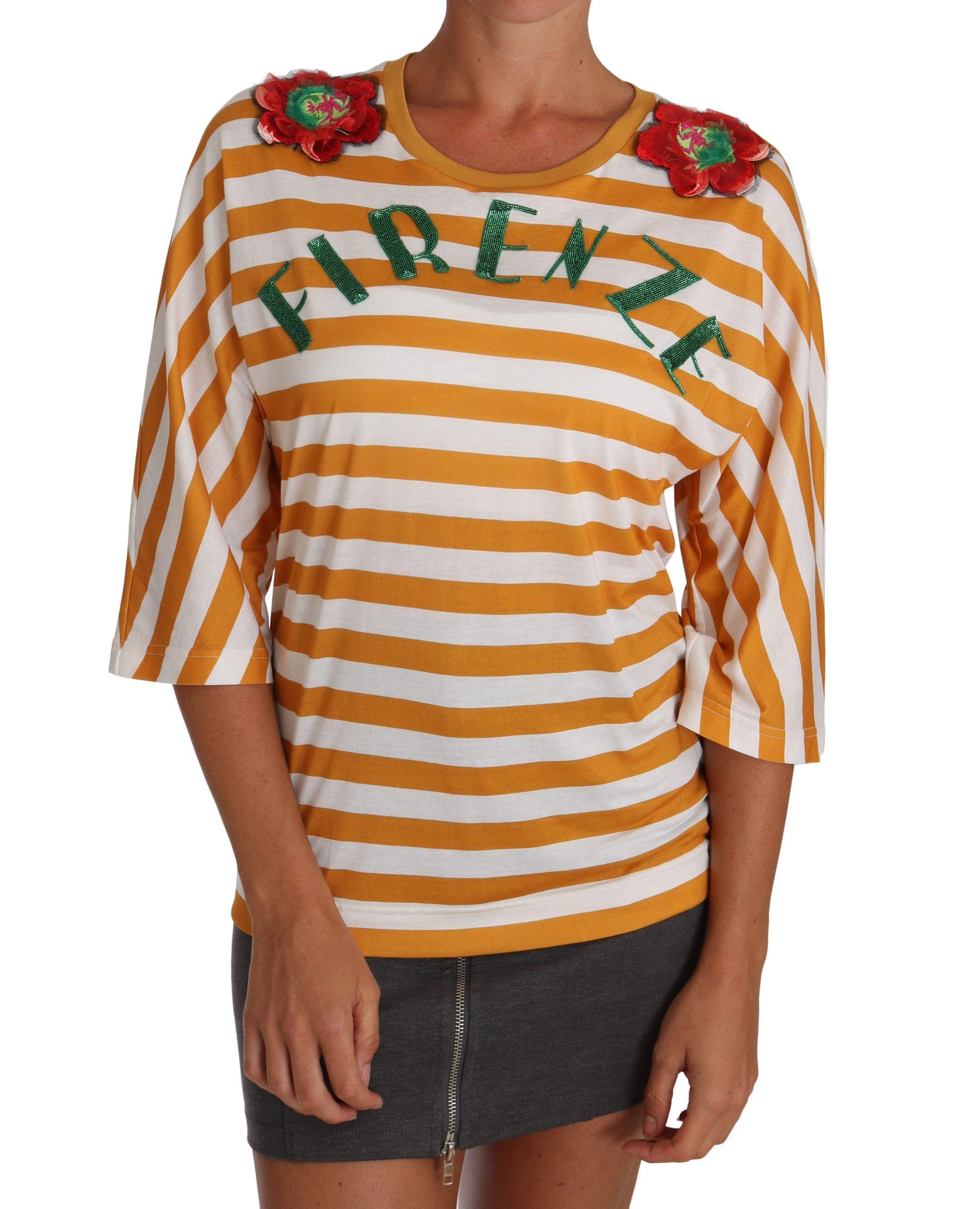 Dolce & Gabbana Women's FIRENZE Top Orange TSH2382 - IT36 | XS