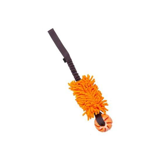 Pro Dog Bungee Mopp Med Gummiboll (Orange)