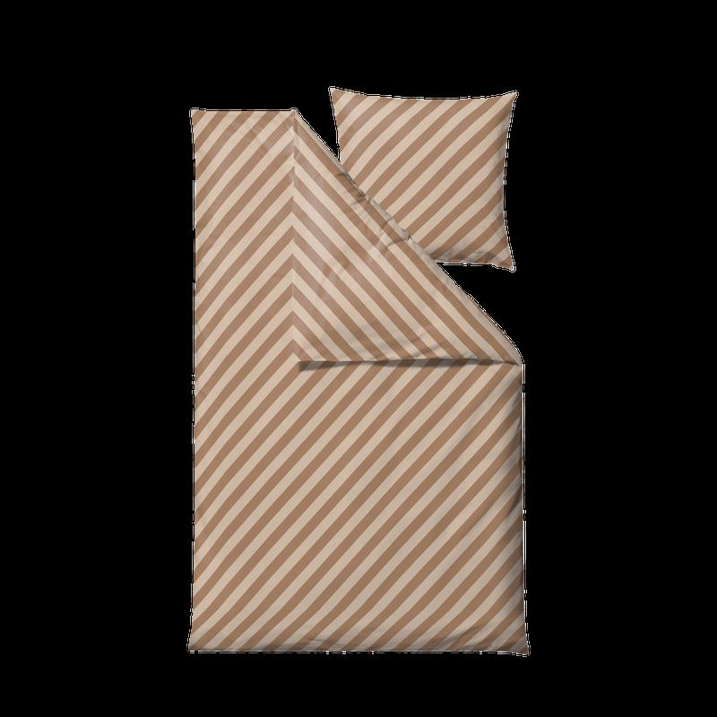 Södahl - Organic Diagonal Bedding 140 x 200 cm - Camel (15263)