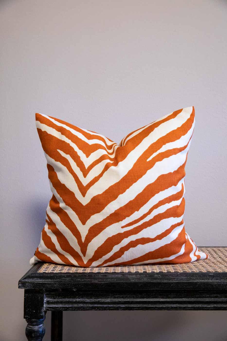 Kuddfodral Zebra 50x50 orange
