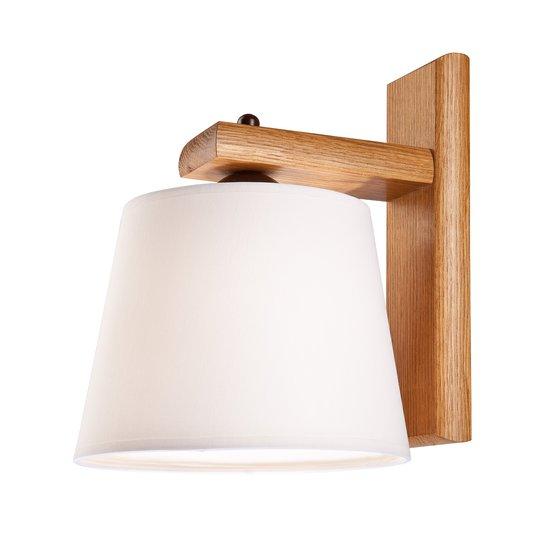 Vegglampe Sweden med trestamme, rustikk eik