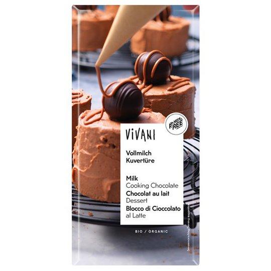 Vivani Ekologisk Ljus Blockchoklad 35%, 200 g