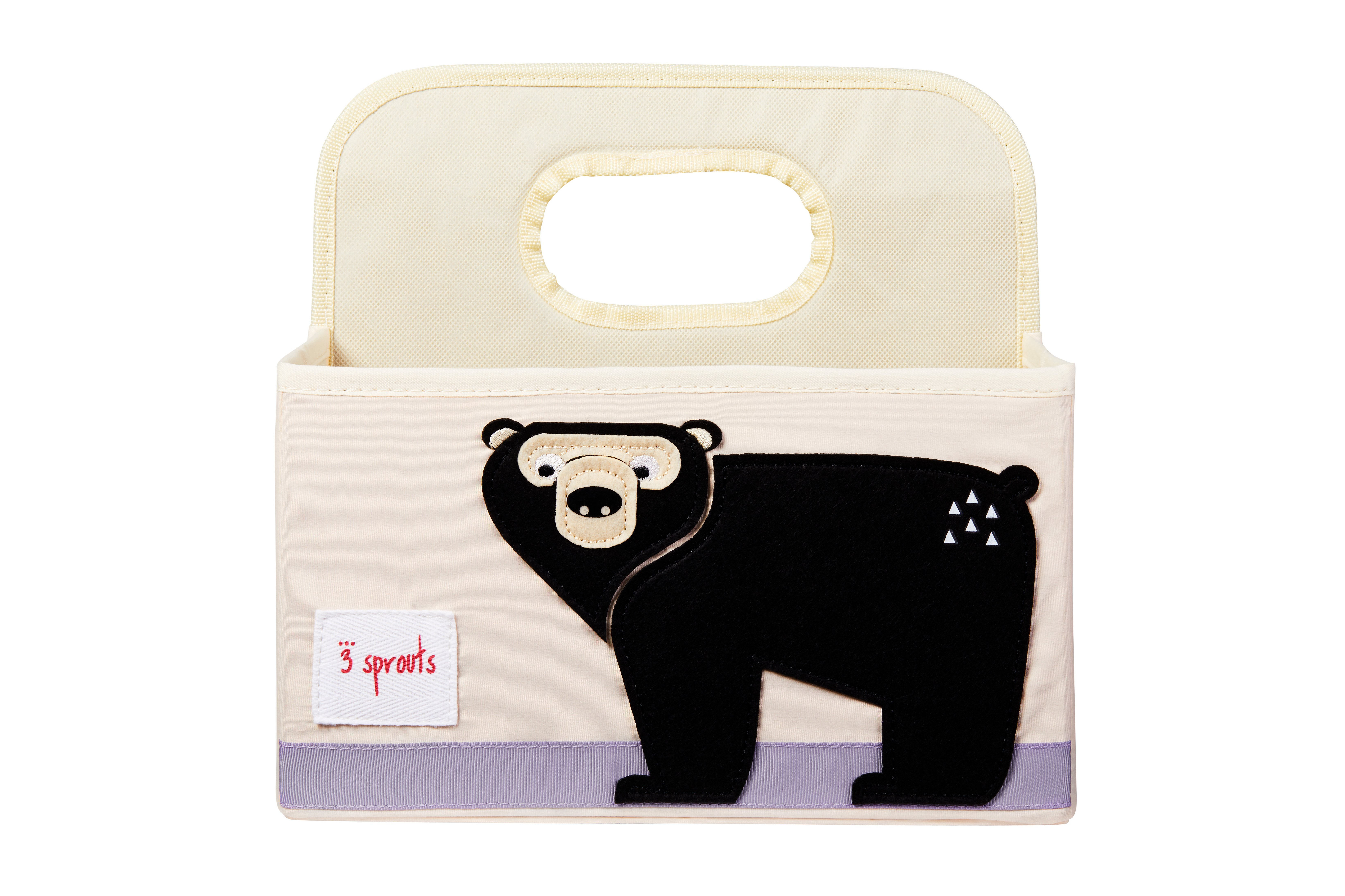 3 Sprouts - Diaper Caddy - Black Bear