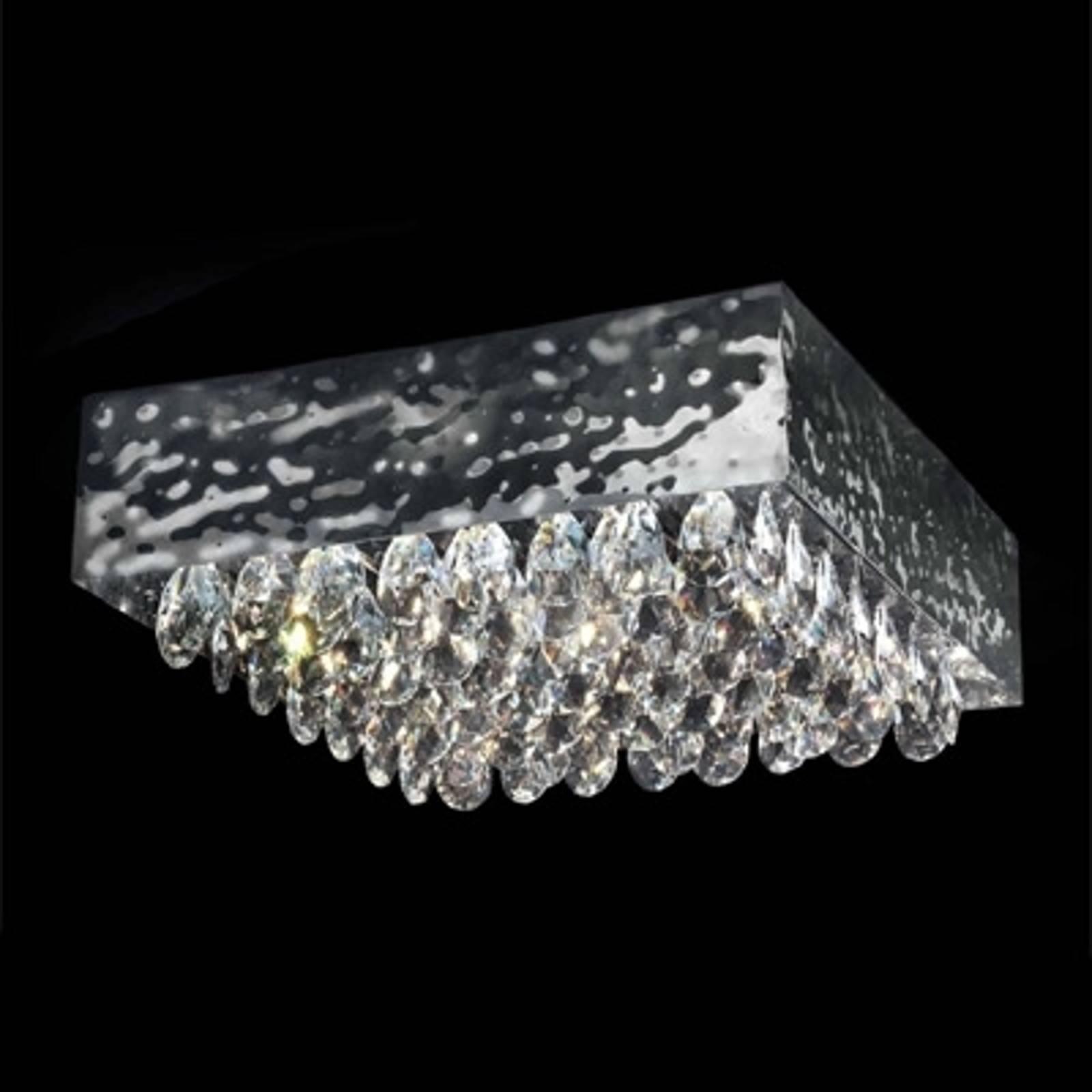 Kattovalaisin MAGMA, kristalli, kirkas, 51 x 51 cm