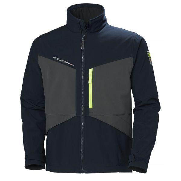 Helly Hansen Workwear Aker Softshelljacka marinblå/grå S
