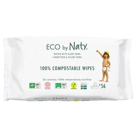 Naty Miljövänliga Våtservetter med Aloe Vera, 56 st
