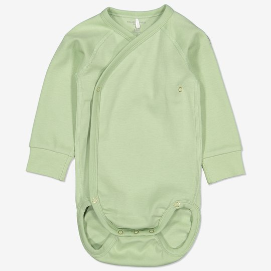 Omslagsbody baby grønn