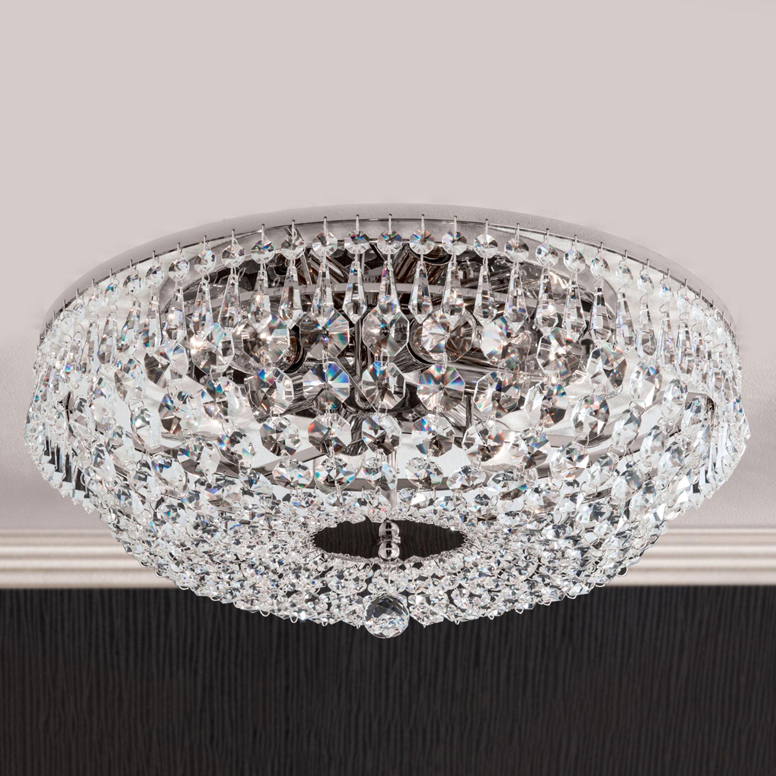 Kromattu kristallikattovalaisin SHERATA, 45 cm