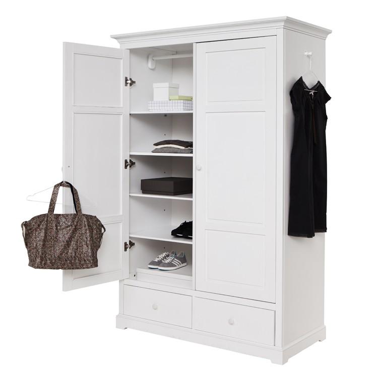 Garderob med två dörrar H195 cm, Oliver Furniture