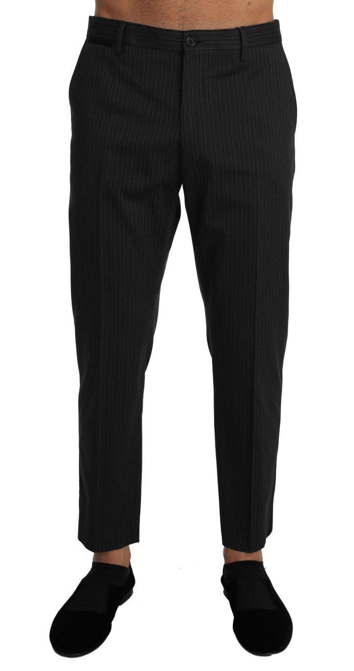 Dolce & Gabbana Men's Cotton Striped Dress Trouser Gray PAN60942 - W34