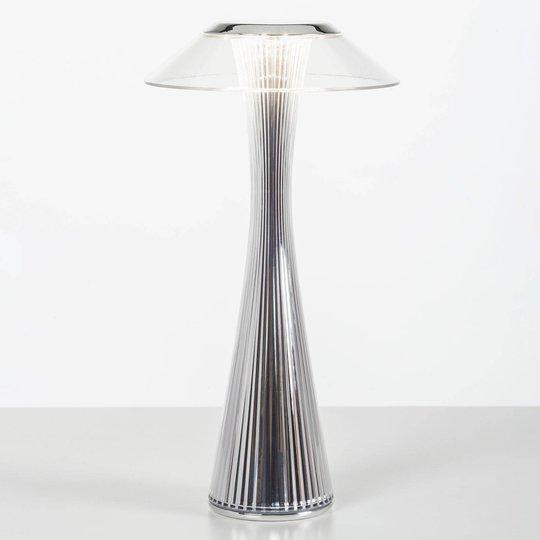 Kartell Space -design-LED-pöytälamppu, kromi