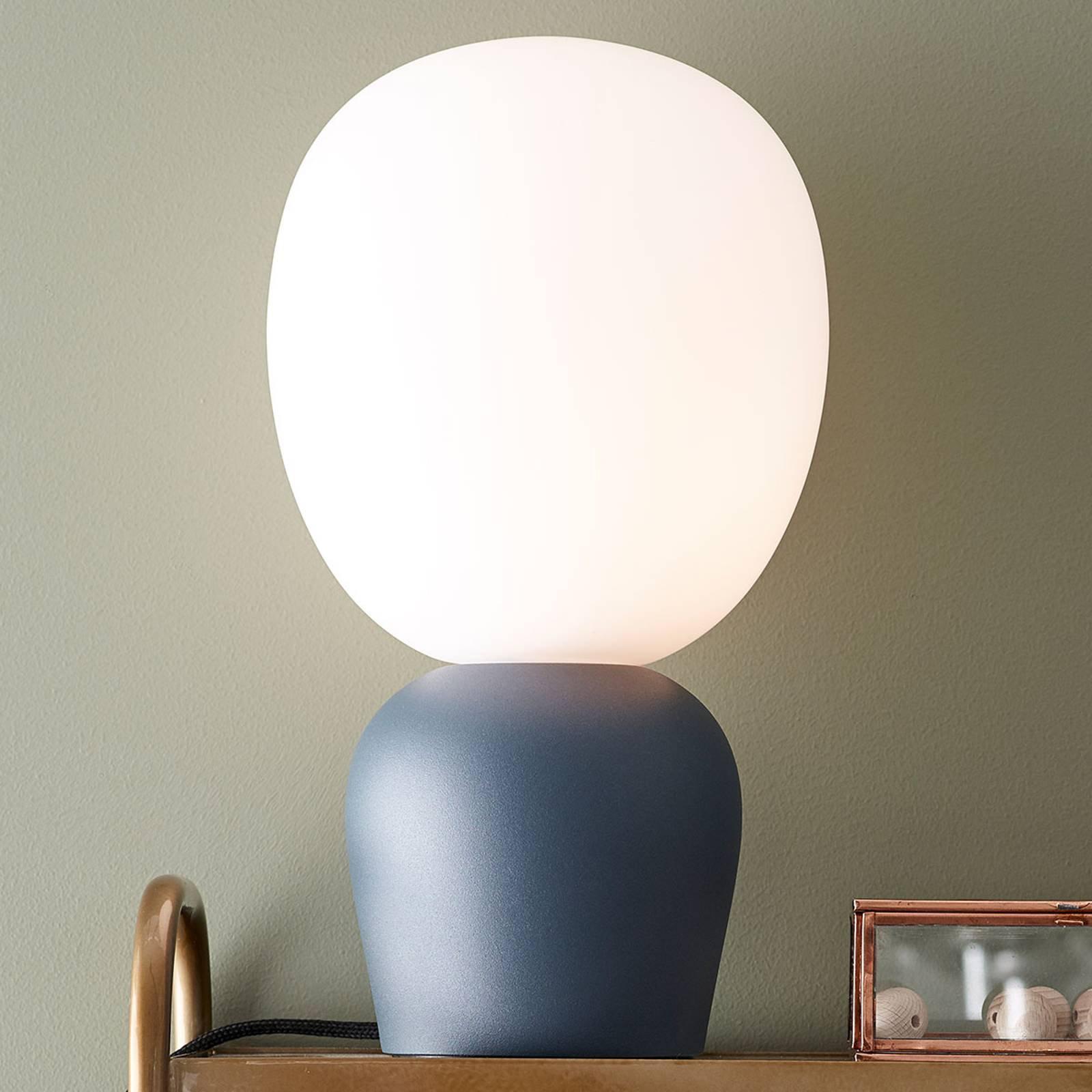 Bordlampe Buddy, azurblå