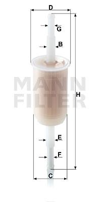 Polttoainesuodatin MANN-FILTER WK 32 (10)