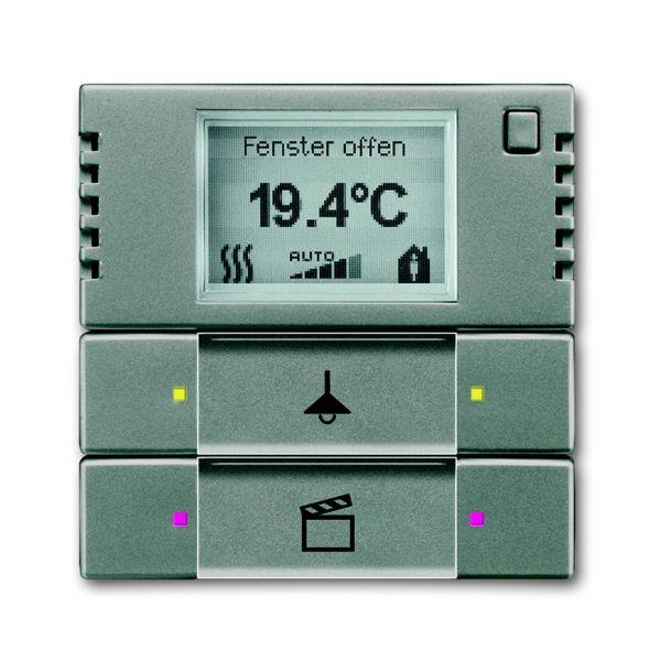 ABB 6134-0-0336 Termostaattinäyttö 2-napainen Metalli