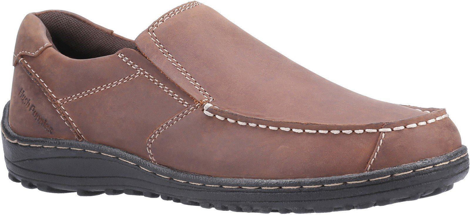 Hush Puppies Men's Thomas Slip on Loafer Various Colours 30213 - Brown 6