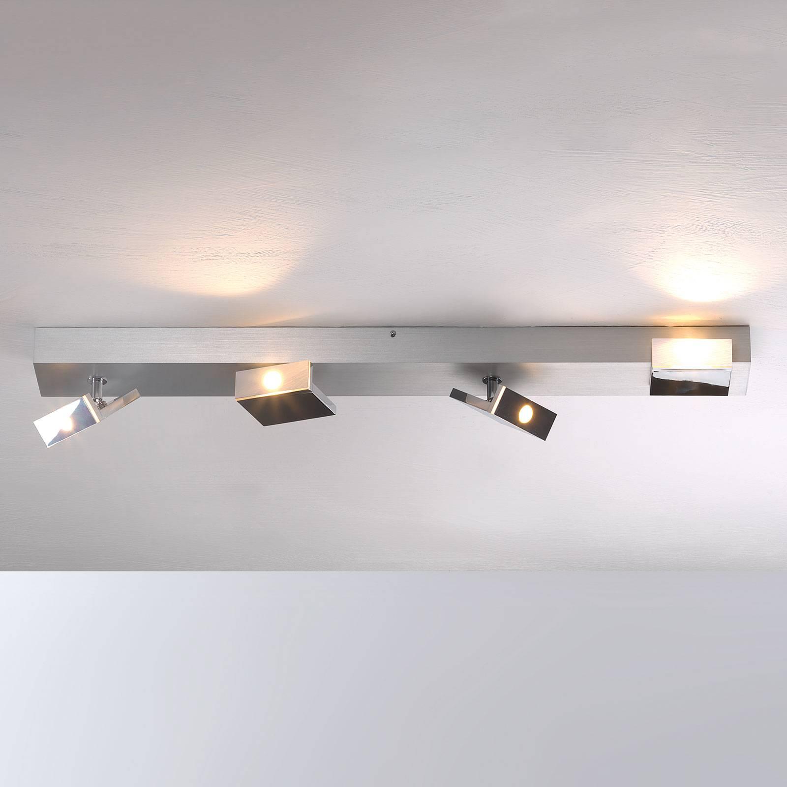 Tyylikäs nelilamppuinen LED-spotti Elle, himmennys
