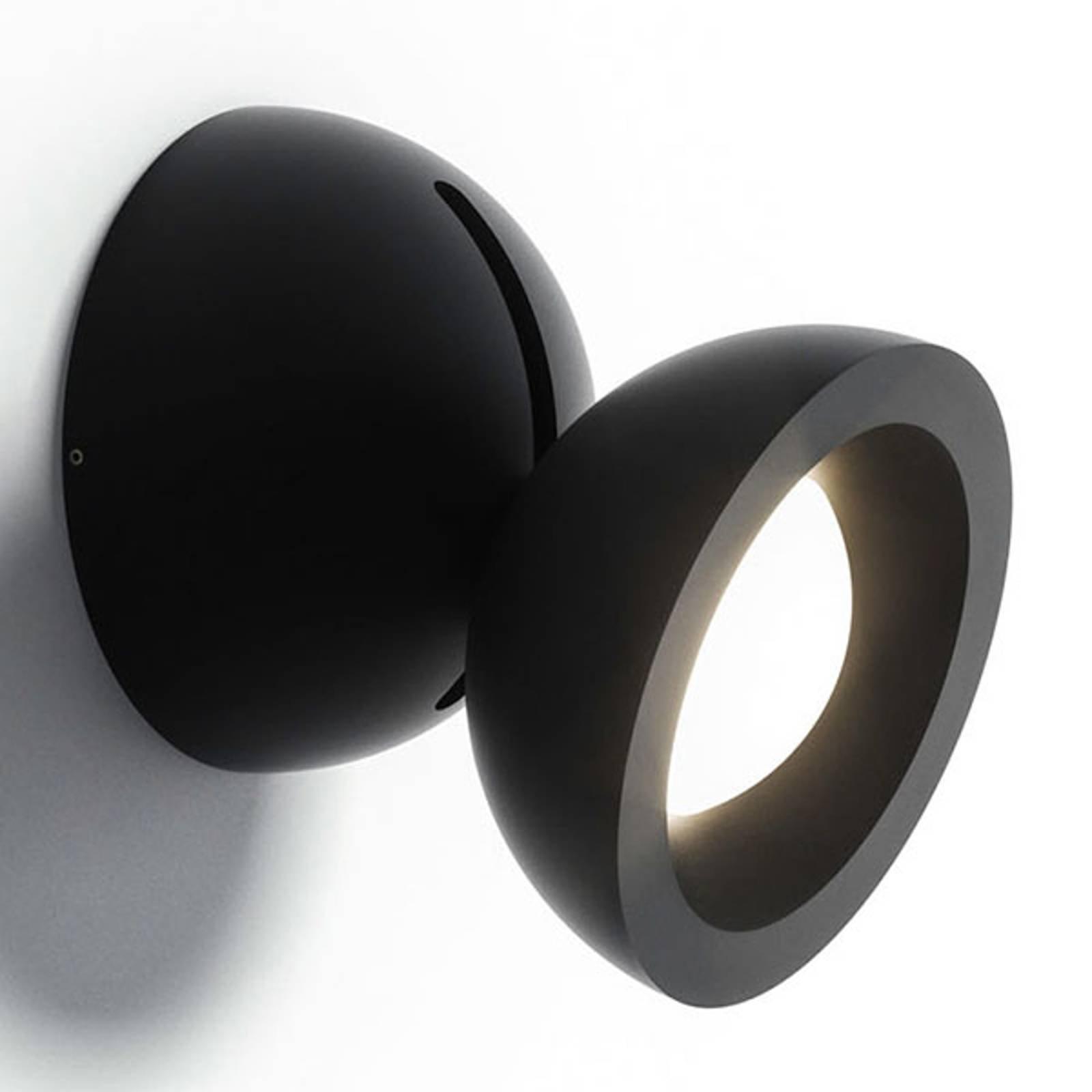 Axolight DoDot LED-vegglampe, svart 35°